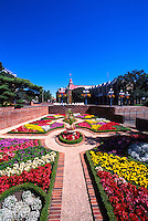 Knot Garden in Centennial Square at Victoria City Hall, BC, British Columbia, Canada