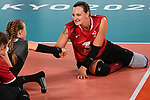 Danielle Ellis and Jolan Wong, Tokyo 2020 - Sitting Volleyball // Volleyball Assis.<br /> Canada takes on Brazil in the sitting volleyball bronze medal match // Le Canada affronte le Brésil dans le match pour la médaille de bronze en volleyball assis. 09/4/2021.
