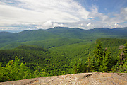 View from along the Attitash Trail on Table Mountain in Bartlett, New Hampshire USA during the summer months.