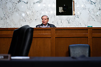 United States Senator Lindsey Graham (Republican of South  Carolina), Chairman, US Senate Judiciary Committee, speaks during the fourth day of the confirmation hearing for Judge Amy Coney Barrett, President Donald Trump's Nominee for Supreme Court, in Hart Senate Office Building in Washington DC, on October 15th, 2020.<br /> Credit: Anna Moneymaker / Pool via CNP /MediaPunch
