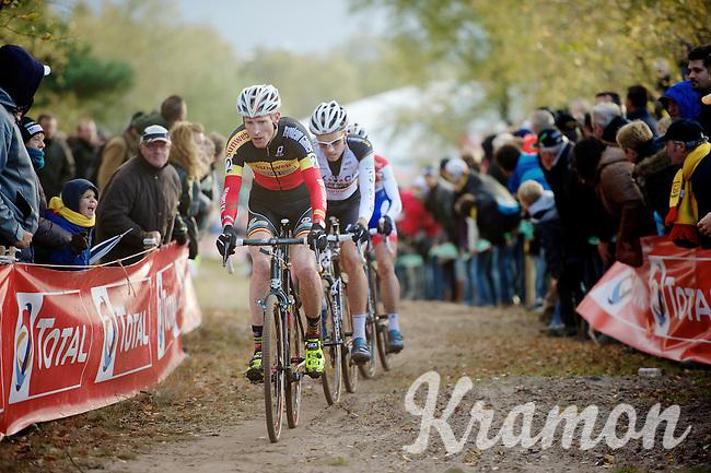 Superprestige Zonhoven 2013<br /> <br /> Klaas Vantornout (BEL) leading the way
