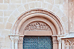 Europe, Spain, Catalonia, Tarragona, Tarragona Cathedral Door