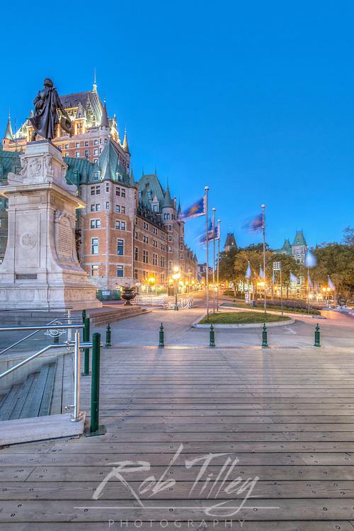 Canada, Quebec, Quebec City Dawn