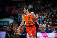 VALENCIA, SPAIN - NOVEMBER 3: Guillem Vives during EUROCUP match between Valencia Basket Club and CAI Zaragozaat Fonteta Stadium on November 3, 2015 in Valencia, Spain