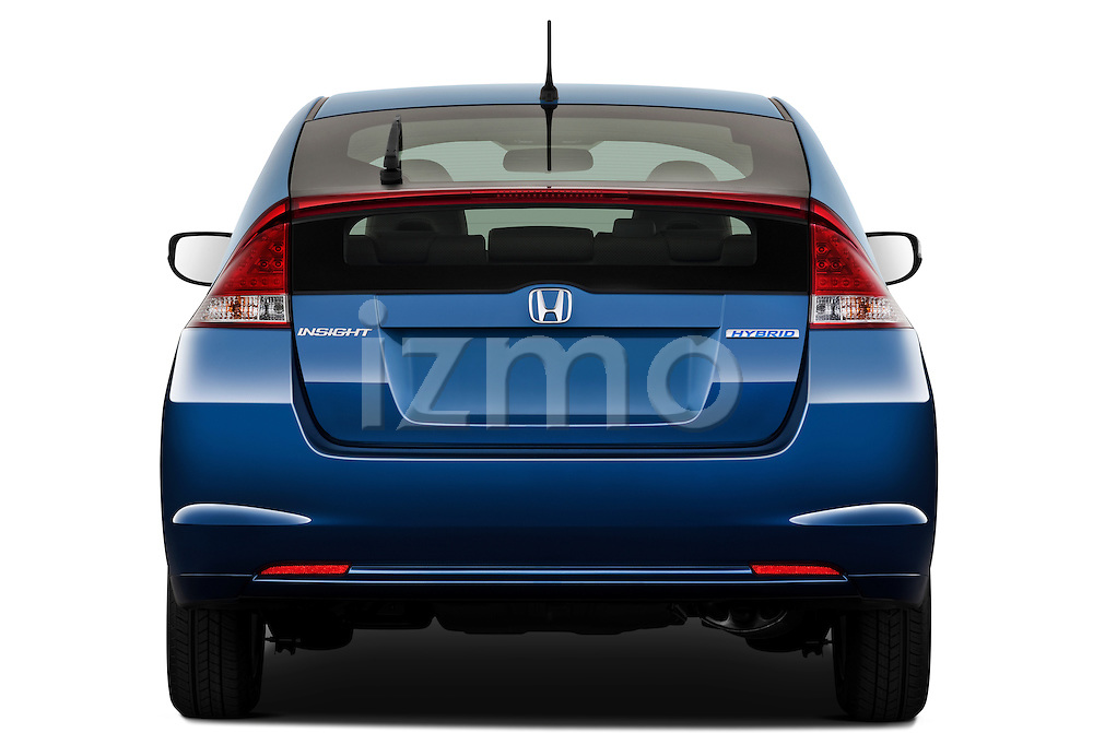 Straight rear view of a 2010 Honda Insight EXL