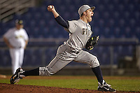 Pittsburgh Panthers pitcher Tanner Wilt #17 delivers a pitch during a game against the Michigan Wolverines at the Big Ten/Big East Challenge at Florida Auto Exchange Stadium on February 18, 2012 in Dunedin, Florida.  (Mike Janes/Four Seam Images)