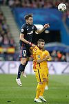Atletico de Madrid's Saul Niguez (l) and FC Barcelona's Jordi Alba during Champions League 2015/2016 Quarter-Finals 2nd leg match. April 13,2016. (ALTERPHOTOS/Acero)
