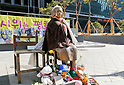 Comfort Women Statue in front of the Japanese Embassy in Seoul