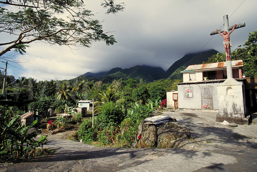 Village of La Plaine, island of Dominica , West Indies. Village of La Plaine, Dominica West Indies.