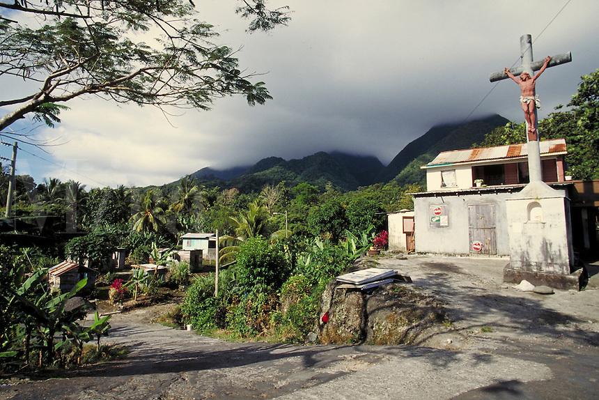 Village of La Plaine, island of Dominica , West Indies. Village of La Plaine, Dominica West Indies.
