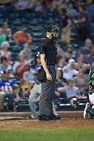 Home plate umpire Nathan Diederich during the Midwest League game between the West Michigan Whitecaps and the Fort Wayne TinCaps at Parkview Field on August 5, 2019 in Fort Wayne, Indiana. The TinCaps defeated the Whitecaps 9-3. (Brian Westerholt/Four Seam Images)