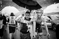 Frank Schleck (LUX/Trek-Segafredo) soaked to the bone after finishing stage 9 in Andorra Arcalis (coming from Velha Val d'Aran/ESP, 184km)<br /> <br /> 103rd Tour de France 2016