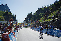 Jérome Coppel (FRA/IAM) coming in<br /> <br /> stage 17: Bern (SUI) - Finhaut-Emosson (SUI) 184.5km<br /> 103rd Tour de France 2016