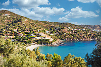 The beach Klimaki in Evia island, Greece