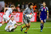 Abby Wambach, Ayumi Kaihori.  Japan won the FIFA Women's World Cup on penalty kicks after tying the United States, 2-2, in extra time at FIFA Women's World Cup Stadium in Frankfurt Germany.