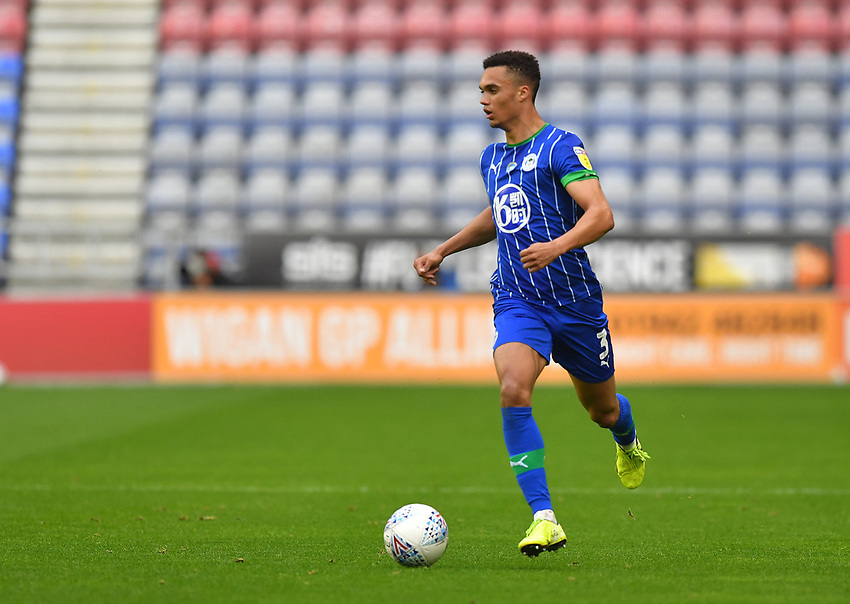 Wigan Athletic's Antonee Robinson<br /> <br /> Photographer Dave Howarth/CameraSport<br /> <br /> The EFL Sky Bet Championship - Wigan Athletic v Fulham - Wednesday July 22nd 2020 - DW Stadium - Wigan<br /> <br /> World Copyright © 2020 CameraSport. All rights reserved. 43 Linden Ave. Countesthorpe. Leicester. England. LE8 5PG - Tel: +44 (0) 116 277 4147 - admin@camerasport.com - www.camerasport.com