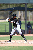 Chicago White Sox third baseman Lenyn Sosa (13) at bat during an Instructional League game against the Kansas City Royals at Camelback Ranch on September 25, 2018 in Glendale, Arizona. (Zachary Lucy/Four Seam Images)