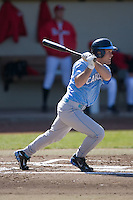 Tim Fedroff (16) of the North Carolina Tar Heels follows through on his swing versus the St. John's Red Storm at the 2008 Coca-Cola Classic at the Winthrop Ballpark in Rock Hill, SC, Sunday, March 2, 2008.