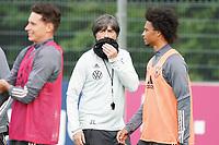 Bundestrainer Joachim Loew (Deutschland Germany) schuetzt sich - 31.08.2020: Erstes Training der Deutschen Nationalmannschaft vor dem Nations League gegen Spanien, ADM Sportpark Stuttgart