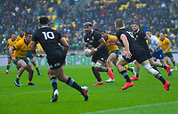 NZ's Hoskins Sotutu in action during the Bledisloe Cup rugby union match between the New Zealand All Blacks and Australia Wallabies at Sky Stadium in Wellington, New Zealand on Sunday, 11 October 2020. Photo: Dave Lintott / lintottphoto.co.nz