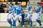St Johnstone v Dundee…11.03.17     SPFL    McDiarmid Park<br />Paul Paton celebrates his goal<br />Picture by Graeme Hart.<br />Copyright Perthshire Picture Agency<br />Tel: 01738 623350  Mobile: 07990 594431