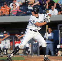 June 10, 2009:  Jordan Lennerton of the West Michigan Whitecaps during a game at Fifth Third Ballpark in Comstock Park, FL.  The White Caps are the Low-A affiliate of the Detroit Tigers.  Photo By Emily Jones/Four Seam Images