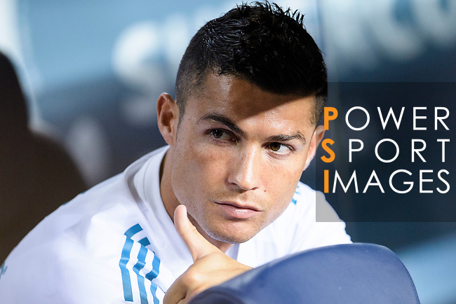 Cristiano Ronaldo of Real Madrid during the Supercopa de Espana Final 1st Leg match between FC Barcelona and Real Madrid at Camp Nou on August 13, 2017 in Barcelona, Spain. Photo by Marcio Rodrigo Machado / Power Sport Images-