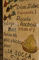 Europe/France/Provence-Alpes-Côte d'Azur/06/Alpes-Maritimes/Nice: Dans le Vieux Nice, mur peint , enseigne d'une  épicerie