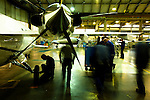 12 gennaio 2012, ore 12,Genova Sestri, Piaggioaero <br /> operatori eseguono test di collaudo a terra del velivolo P. 180 Avanti II