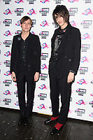 Faris Badwan and Rhys Webb (The Horrors)<br /> arriving for the NME Awards 2018 at the Brixton Academy, London<br /> <br /> <br /> ©Ash Knotek  D3376  14/02/2018