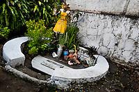 An Afro-Brazilian religious statue, representing a god (orixa), is seen outside the temple (terreiro) in Salvador, Bahia, Brazil, 31 January 2012.