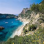 Spain, Costa Blanca, Cap de la Nau near Javea: Playa Ambolo | Spanien, Costa Blanca, Cap de la Nau bei Javea: Playa Ambolo