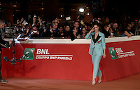 """French actress Juliette Binoche walks on the red carpet as she arrives for a special screening of the movie """"The English Patient"""" during the international Rome Film Festival at Rome's Auditorium, 22 October 2016. The Film Festival celebrates one of the most beloved of Cinema History 'The English Patient' by Anthony Minghella, released twenty years ago (in 1996). <br /> UPDATE IMAGES PRESS/Isabella Bonotto"""