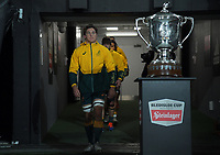 Australia captain Michael Hooper leads his team out for the Bledisloe Cup rugby match between the New Zealand All Blacks and Australia Wallabies at Eden Park in Auckland, New Zealand on Saturday, 7 August 2021. Photo: Dave Lintott / lintottphoto.co.nz