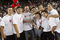 STANFORD, CA - OCTOBER 24:  Baseball players with the Director's Cup during Stanford's 33-14 win over ASU on October 24, 2009 at Stanford Stadium in Stanford, California.