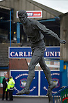 Carlisle United 1 Accrington Stanley 0, 15/11/2014. Brunton Park, League Two. The statue of Hugh McIlmoyle located outside the stadium prior to the English League Two match between Carlisle United and visitors Accrington Stanley at Brunton Park. The match was won by the home team by one goal to nil, the winner scored by Derek Asamoah in the 21st minute. The match was watched by 4,069 spectators. Photo by Colin McPherson.