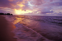 Sunset on Waialua Beach, near Haleiwa, North Shore of Oahu