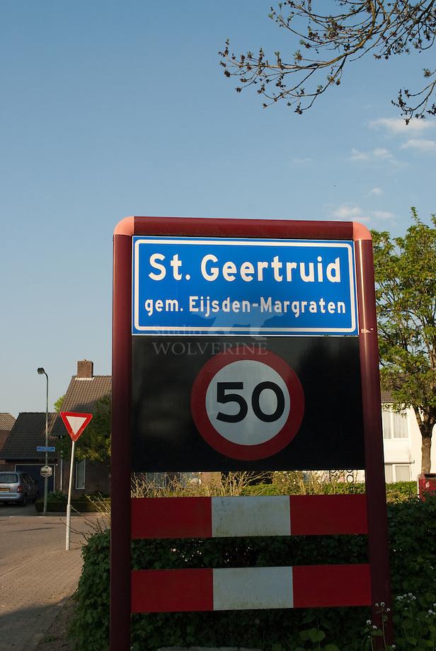 Bord dorp St Geertruid, gemeente Eijsden en Margraten