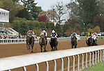 October 18, 2014: Holy Highway and jockey Jesus Castanon win the 5th race.  Candice Chavez/ESW/CSM