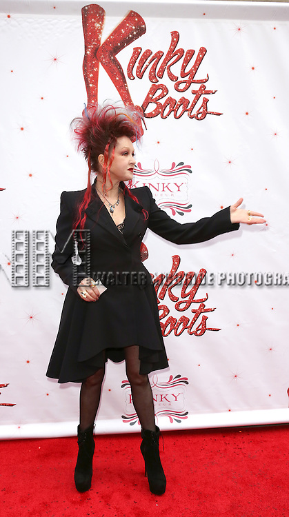 Cyndi Lauper attending the Broadway Opening Night Performance for 'Kinky Boots' at the Al Hirschfeld Theatre in New York City on 4/3/2013