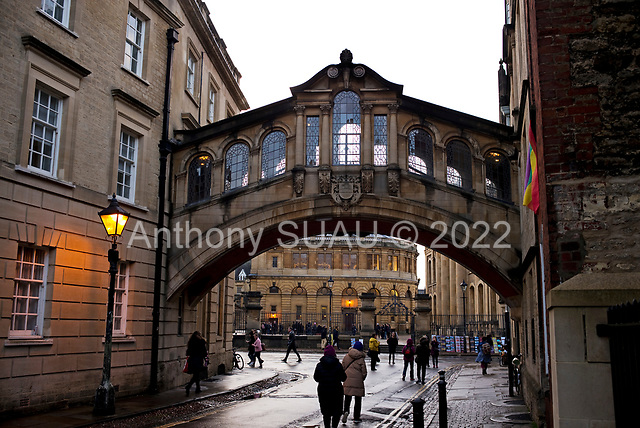 """Oxford University<br /> Oxford, United Kingdom<br /> November 2018<br /> <br /> Oxford University<br /> Oxford, United Kingdom<br /> November 2018<br /> <br /> Hertford Bridge, often called """"the Bridge of Sighs"""", is a skyway joining two parts of Hertford College over New College Lane."""