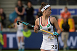 NED - Amsterdam, Netherlands, August 20: During the women Pool B group match between Germany (white) and England (red) at the Rabo EuroHockey Championships 2017 August 20, 2017 at Wagener Stadium in Amsterdam, Netherlands. Final score 1-0. (Photo by Dirk Markgraf / www.265-images.com) *** Local caption *** Pia Oldhafer #29 of Germany