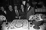CARLO VERDONE CON  PIERLUIGI SEVERI, BEATRICE JANNOZZI E RENATO NICOLINI<br /> FESTA DEI 10 ANNI DEL JACKIE O' 1984