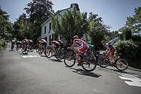 Break Away Group with Anthony Turgis (FRA/Cofidis) and Simon Spilak (SLO/Katusha Alpecin) Up the Infamous Mur de Huy.<br /> <br /> Baloise Belgium Tour 2018<br /> Stage 4:  Wanze - Wanze 147.3km