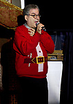Writer actor Entertainer NYC celebrity Icon  Micheal Musto performing at Soho Johnny's Holiday Soiree