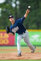 Elizabethton Twins starting pitcher Stephen Gonsalves (51) in action against the Burlington Royals at Burlington Athletic Park on June 25, 2014 in Burlington, North Carolina.  The Twins defeated the Royals 8-0. (Brian Westerholt/Four Seam Images)