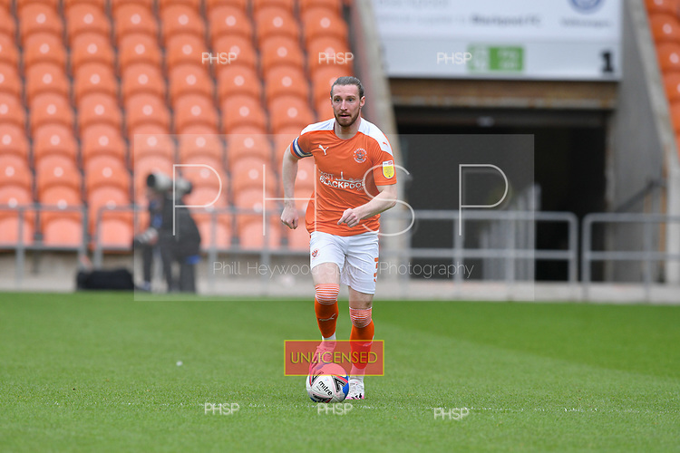 09/05/2021 Sky Bet League 1 Blackpool v Bristol Rovers  <br /> <br /> James Husband in action for Blackpool