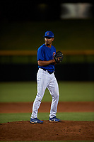 AZL Cubs 1 relief pitcher Luis Silva (20) during an Arizona League game against the AZL Angels on June 24, 2019 at Sloan Park in Mesa, Arizona. AZL Cubs 1 defeated the AZL Angels 12-0. (Zachary Lucy / Four Seam Images)