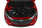 Car Stock 2020 Hyundai Elantra SEL 4 Door Sedan Engine  high angle detail view