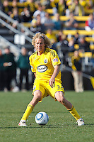 27 MARCH 2010:  Steven Lenhart of the Columbus Crew (32) during the Toronto FC at Columbus Crew MLS game in Columbus, Ohio on March 27, 2010.